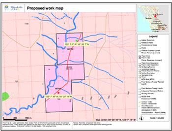 Three Mackenzie, BC mining claims for sale